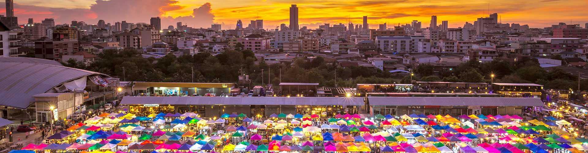 mercado nocturno de bangkok