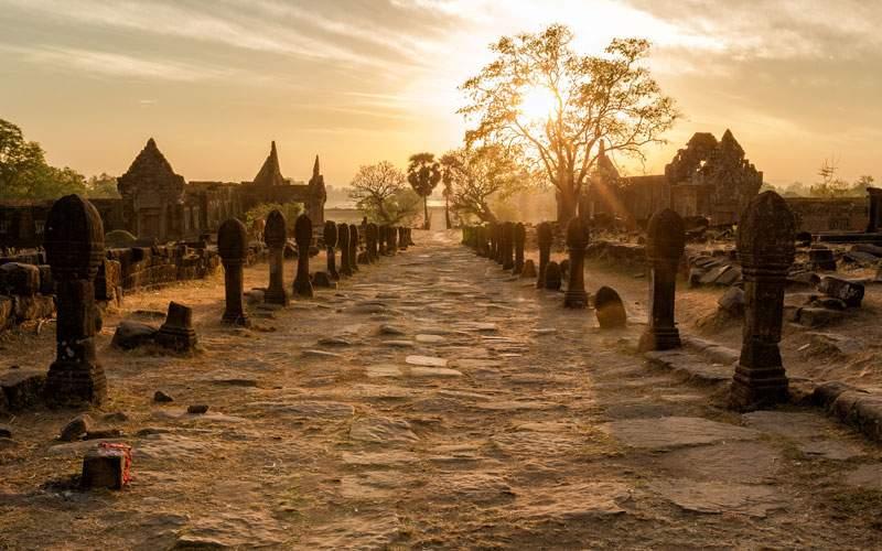 Vat Phou Champasak Sunrise