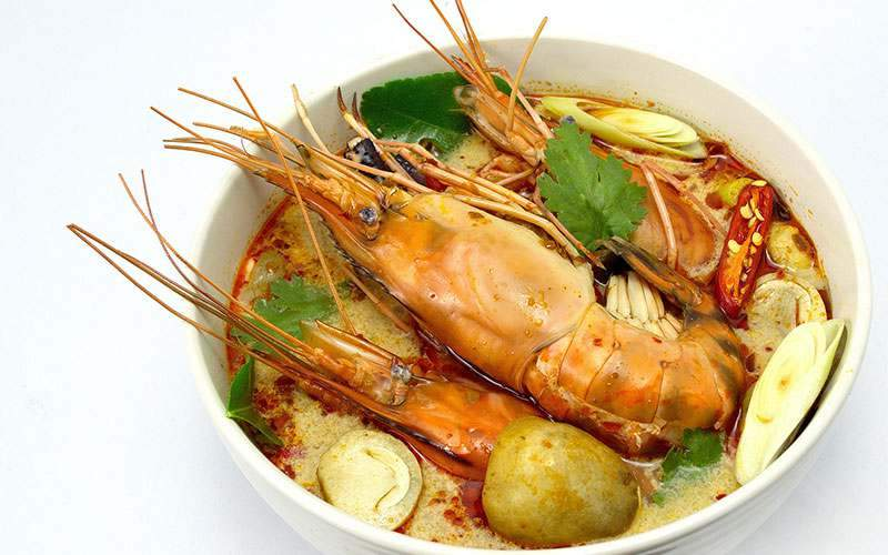 The national dish of Thailand, Tom Yum Soup