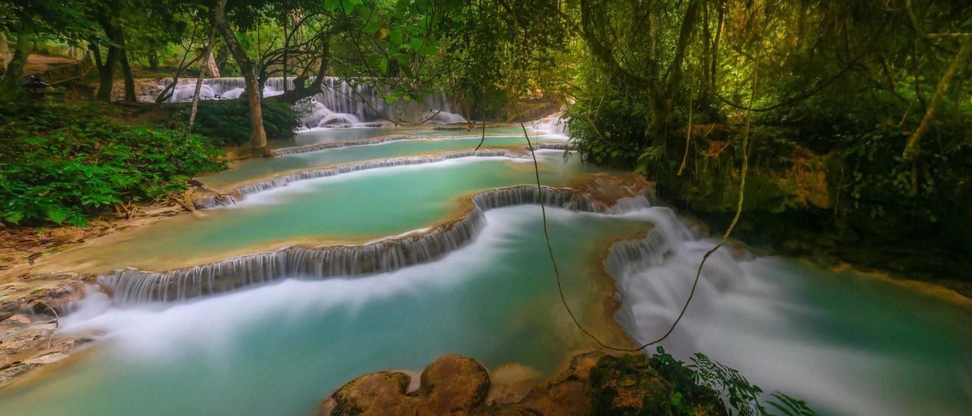 Laos Intro Tad Sae Waterfalls