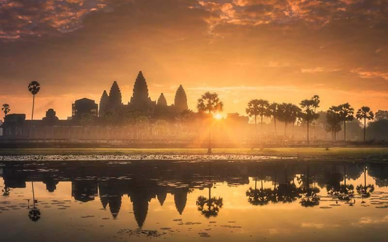 Angkor Wat al atardecer