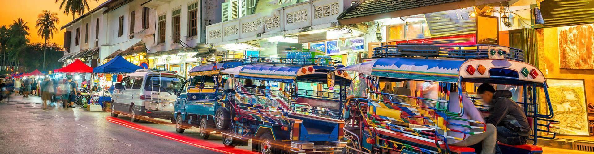 Luang Prabang Street in old town