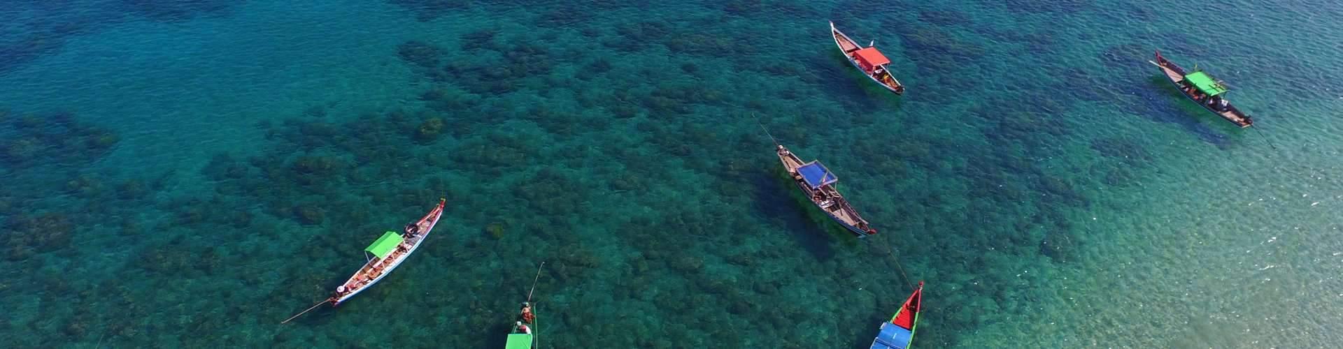 Boats at Ngapali Beach