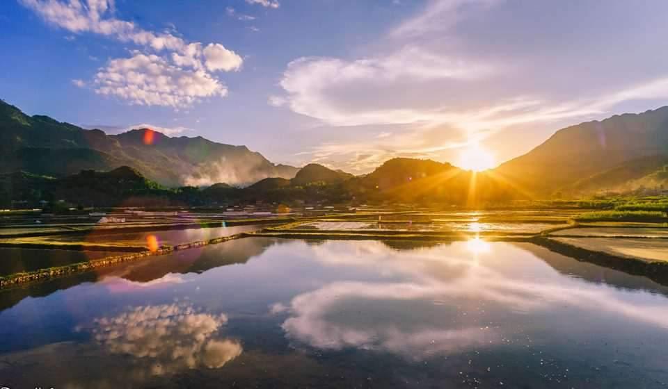 Fields in sunlight Mai Chau