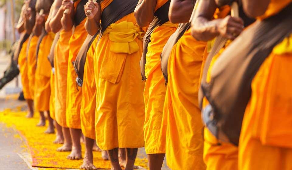 Monjes de Ayutthaya