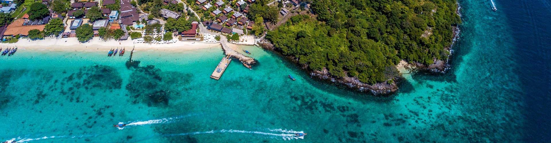 koh phi phi i from long island beach