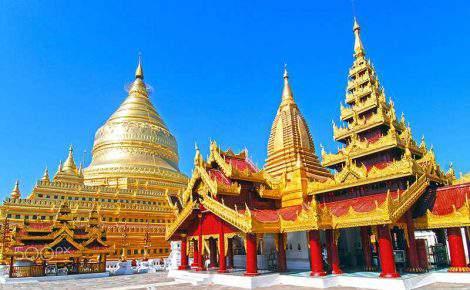 Maravilhas luxuosas de Myanmar