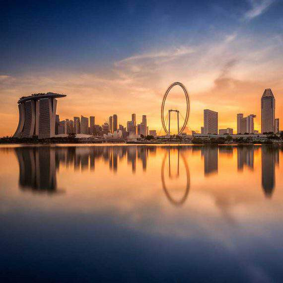 amanecer en Singapur