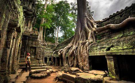 Aventura no Camboja.