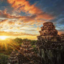 Puesta de sol en Angkor