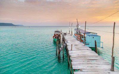 Excursão de cruzeiros do porto de Sihanoukville com guia em português