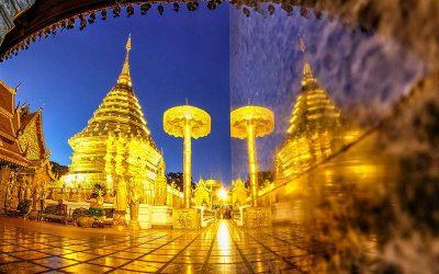 Excursão privada de um dia em Chiang Mai com Wat Doi Suthep e guia falante de português