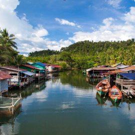 Floating village in Tonle Sap