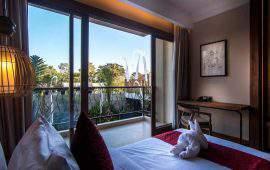 Anumana Ubud Hotel Superior Room Lagoon Access 1