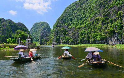 Excursão em Ninh Binh, Hang Mua, Hoa Lu e Tam Coc com guia falante de português