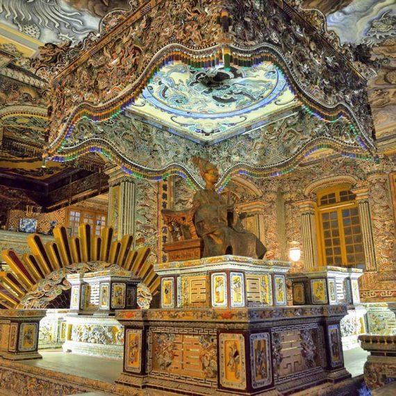 the Tomb of Khai Dinh