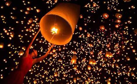 Festival das Lanternas Yi Peng com Bangkok, Chiang Rai, Chiang Mai e as Ilhas de Koh Phi Phi.
