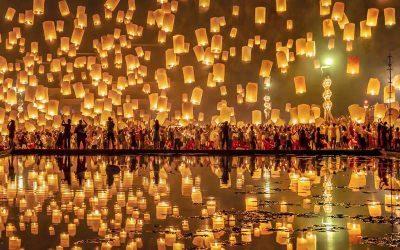 Fascinante festival de las linternas flotantes en Tailandia