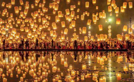Fascinante festival de las linternas flotantes en Tailandia 2019