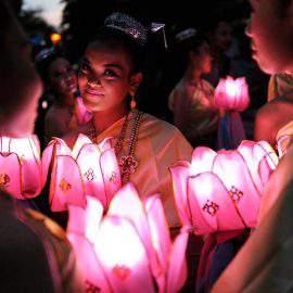 Festival de linternas de Chiang Mai001