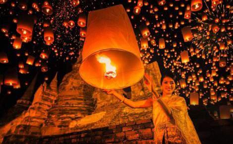 Ingresso para o Festival das Lanternas Yi Peng em Chiang Mai em 2020