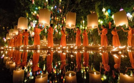 Tailândia, Vietnã e Camboja com festival de lanternas em Chiang Mai.